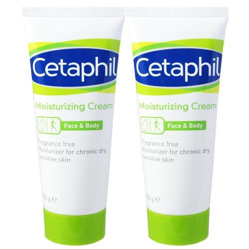 Cetaphil舒特膚 長效潤膚霜(100g) 2入組(加贈舒特膚試用品*2)
