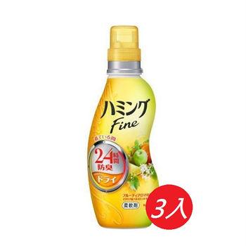 Kao花王 Humming衣物柔軟精-熱帶水果香 -570ml *3入