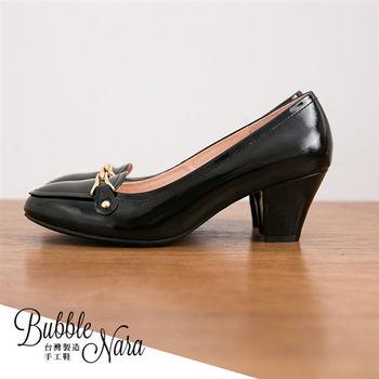 Bubble Nara 波波娜拉~ 曖曖內含光腳窩支撐高跟鞋(黑色),可奔跑高跟鞋超軟厚底氣墊,MIT真皮鞋