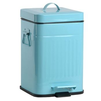 PUSH! 居家生活用品 colourful液壓自動緩降垃圾桶 置物桶 12升(L)I13天藍色