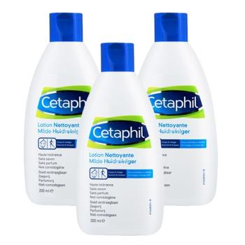 Cetaphil舒特膚 溫和潔膚乳(200ml) 3入組(加贈舒特膚試用品*3)