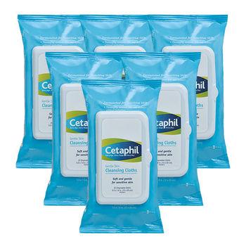 Cetaphil舒特膚 溫和多效潔膚棉(25片/包) 6入組(加贈舒特膚試用品*3)