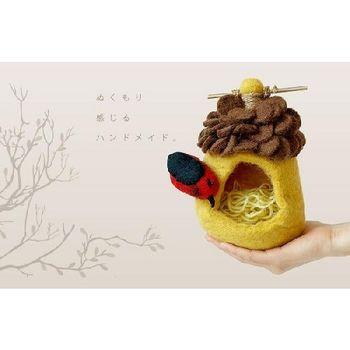 日本 Detail 羊毛氈 鳥巢 置物處 (紅鳥)