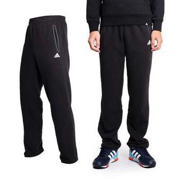 【ADIDAS】男吸濕排汗運動長褲- 愛迪達 棉褲 黑白