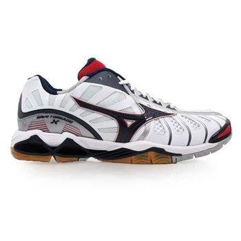 【MIZUNO】WAVE TORNADO X 男排球鞋- 羽球鞋 羽毛球 白丈青紅