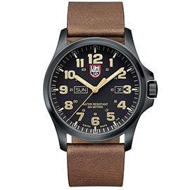 LUMINOX 雷明時 戰場系列藍寶鏡面腕錶-PVD黑x卡其時標/45mm A1929