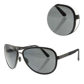 【PORSCHE DESIGN保時捷】經典時尚槍色太陽眼鏡(P8567-C)