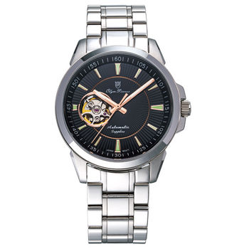 Olym Pianus 奧柏表-真情芯跳都會時尚機械腕錶 990-082AMS