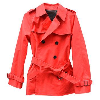 【COACH】時尚紅色風衣