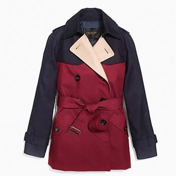 【COACH】雙排扣多變款式風衣(紅藍)
