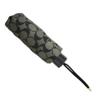 【COACH】時尚經典輕量型晴雨傘/黑