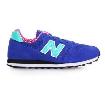 【NEWBALANCE】373 女復古休閒鞋-B- 寬楦 NB N字鞋 藍湖水綠