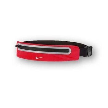 【NIKE】擴充式薄型腰包2.0-手機包 慢跑 路跑 登山 紅銀