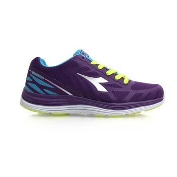 【DIADORA】女慢跑鞋-寬楦 路跑 健身 訓練 深紫水藍