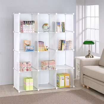 【莫菲思】美學設計-12格組合櫃/收納櫃-白體