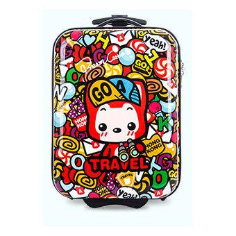 【GO TRIP 尚旅】16吋 阿狸香港風卡通兒童行李箱/拉桿箱/登機箱