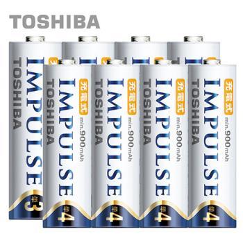 【日本製TOSHIBA】IMPULSE高容量低自放電電池(2450mAh+900mAh 3號4入+4號4入)