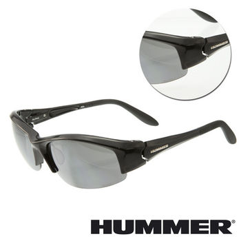 【HUMMER】半粗框黑色太陽墨鏡(ALPHA-903-BK)