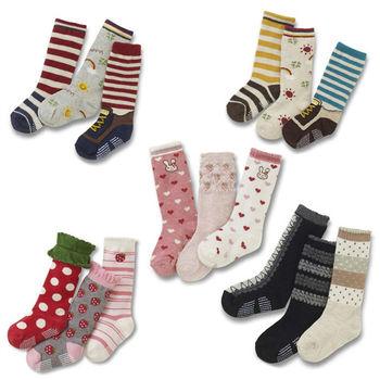 兒童棉襪 寶寶中筒襪 -3雙入