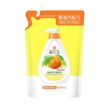 橘子工坊天天然去油D淨因子碗盤蔬果洗碗精補充包430mlx6入/組