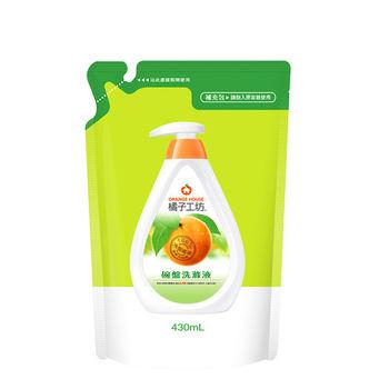 橘子工坊綠橘子天然高效D淨因子碗盤洗滌液補充包430ml-6入/組