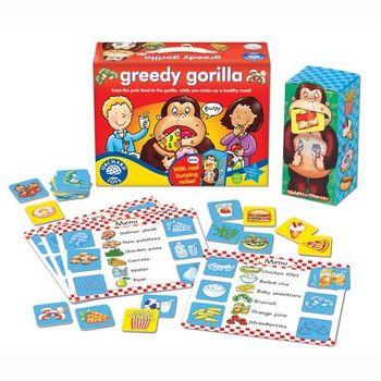 英國Orchard Toys 幼兒桌遊 大猩猩打嗝遊戲 greedy gorilla