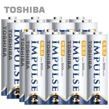【日本製TOSHIBA】IMPULSE高容量低自放電電池(2450mAh+900mAh 3號8入+4號8入)