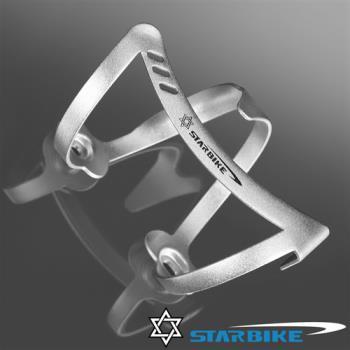 STARBIKE 時尚輕量 典雅前衛 側開好取水壺架(銀)