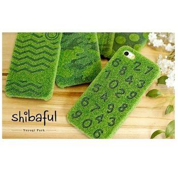 日本 Shibaful 代代木公園 iphone 6 / 6s 草皮 手機殼 (數字款)