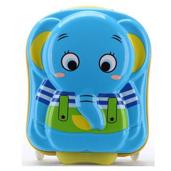 【GO TRIP 尚旅】 16吋 大象卡通兒童行李箱/拉桿箱/登機箱