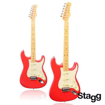 STAGG 比利時大廠 標準3單拾音器 電吉他(SES-50M-FRD火紅色)