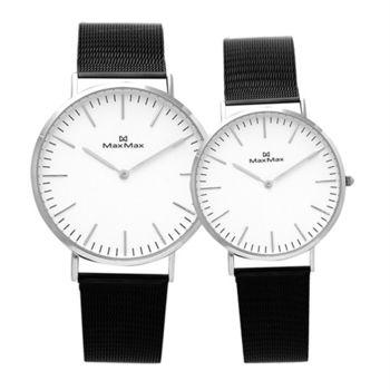 【Max Max】睿智戀人 簡約典雅時尚腕錶-IP黑(MAS7011-5/MAS7011-6)