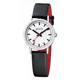 MONDAINE 瑞士國鐵平面經典腕錶/30mm-亮銀錶殼 (658311)
