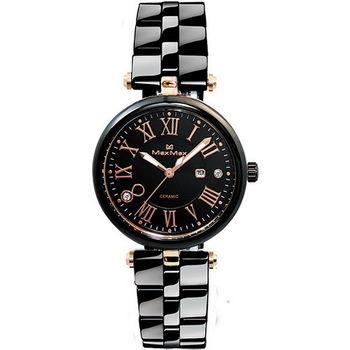 【Max Max】羅馬時尚黑爵限量腕錶 (MAS5129-1)