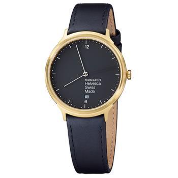MONDAINE 瑞士國鐵設計系列腕錶 - 黑/38mm