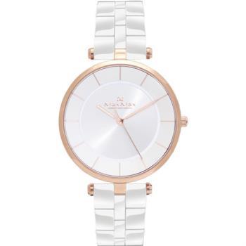 【Max Max】典雅知性 簡約時尚陶瓷腕錶-40mm/白(MAS5132-2)