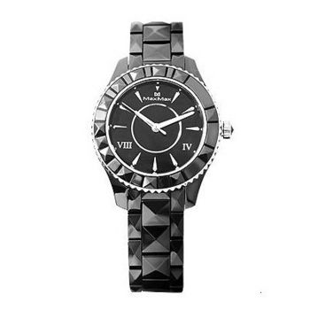 【Max Max】晶鑽亮眼時尚陶瓷腕錶-黑/37mm(MAS6008-1)