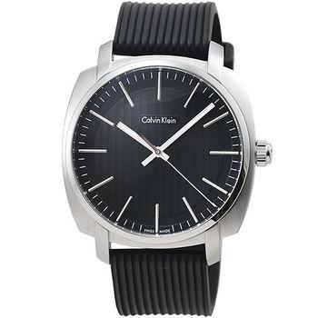 CK Calvin Klein Highline 凱文克萊膠帶男錶-黑色 / K5M311D1
