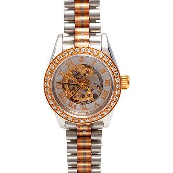 JL 爵儷羅馬數字鑽石鑲嵌女錶(金)