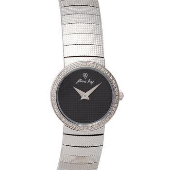 JL 仕女爵儷夢幻鋼帶腕錶(黑)