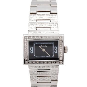 JL 精緻美學女性鋼帶腕錶(黑)