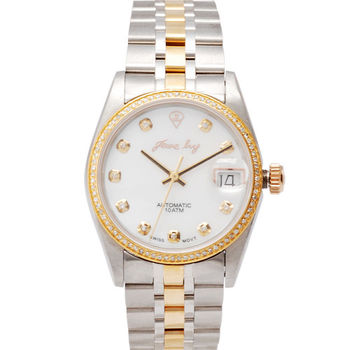 JL 爵儷經典男士18K金鋼帶腕錶