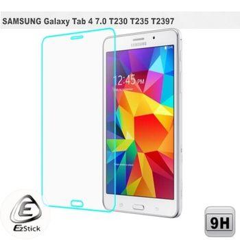 【EZstick】Samsung Galaxy Tab4 7.0 LTE T230 T235 T2397 平板專用 鏡面鋼化玻璃膜 靜電吸附