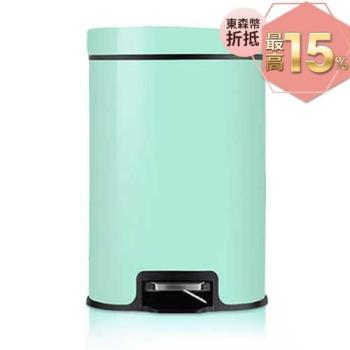 PUSH! 居家生活用品 colourful液壓緩降可固定垃圾袋垃圾桶 置物桶 12升(L)I17-1綠色