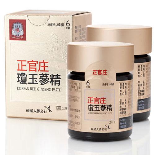 【韓國正官庄】高麗蔘瓊玉蔘精2入(100g/瓶)
