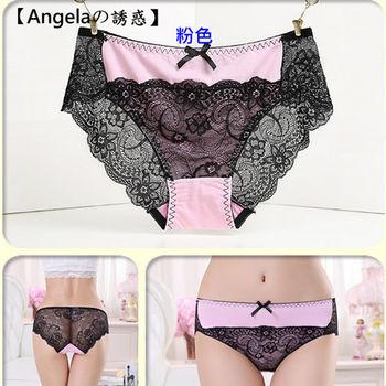 [Angela的誘惑 ]蕾絲中腰性感無痕三角內褲(6入組)