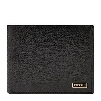 【Fossil】2016男時尚Omega超薄黑色皮夾(預購)
