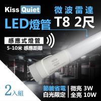 "~Kiss Quiet~ 智慧型動態 ^#40 白光限定 ^#41 雷達感應"" T8 2尺"