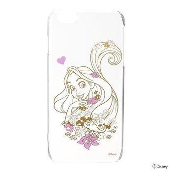 iJacket 迪士尼 iPhone 6/6s Plus 5.5吋 金箔系列 透明硬式保護殼 - 長髮公主