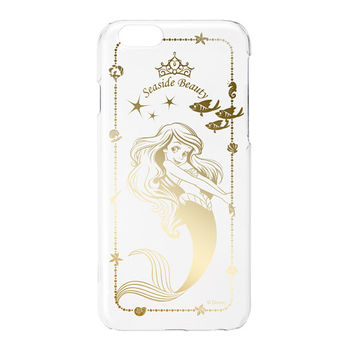 iJacket 迪士尼 iPhone 6/6s 4.7吋 金箔系列 透明硬式保護殼 - 小美人魚